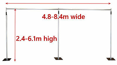 6.1x8.4m Pipe and Drape support system adjustable backdrop photography stand