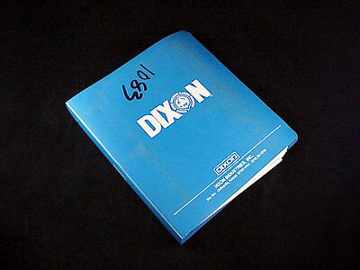 "DIXON ""Blue Sales Binder"" ZTR Mower Service Manual '85-'91 & Parts Lists '74-'87"