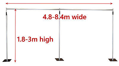 3x8.4m Pipe and Drape support system adjustable backdrop photography stand