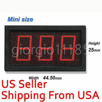 New Mini 3 Red LED Digital AMP Panel Meter DC 50A 4 Wire DC 5V Power