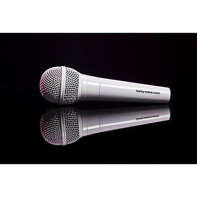 Lucky Voice Microphone White  Brand New