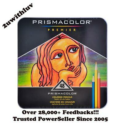 Prismacolor Premier 48 Colored Pencils Soft Core Tin Set New Sealed Free Express