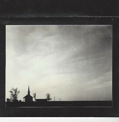 Vintage Abstract Silhouette Photo Creepy Haunted Church