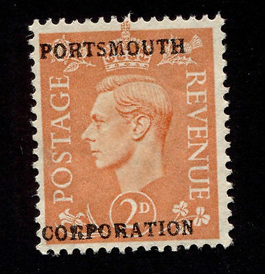 Great Britain 2p KGVI Portsmouth Corporation Commercial or Security Overprint us