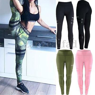 Womens Sport Gym Yoga Workout High Waist Leggings Running Pants Fitness Exercise