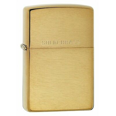Zippo New Windproof Lighter Brushed Brass Brand New
