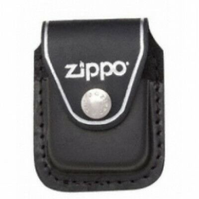 Zippo Black Lighter Pouch With Clip Leather Brand New
