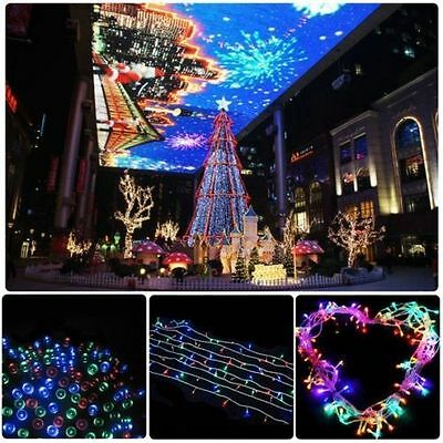 Multi-colour 500 LED 100M XMAS Party Fairy String Lights Indoor Outdoor 328 Feet