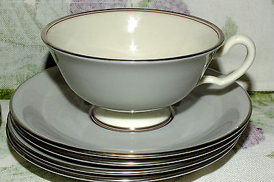LENOX DUBARRY GREY GRAY CUP AND SAUCER SET (7 available)  price for one   EXC