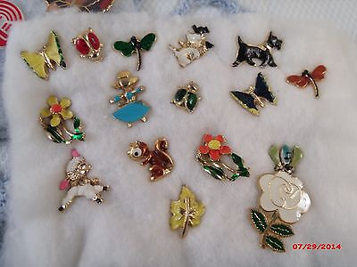Vintage NICE LOT of pinbacks Some really cute enameled figurals