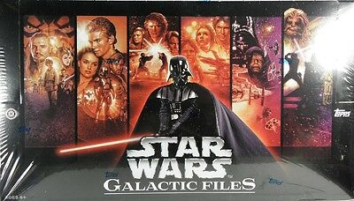 Star Wars GALACTIC FILES 1 Trading Cards Sealed hobby BOX Topps Sketch auto