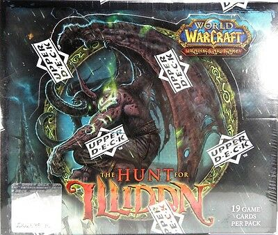 World of Warcraft ~ The HUNT FOR ILLIDAN Sealed 24 pack BOOSTER BOX WoW TCG