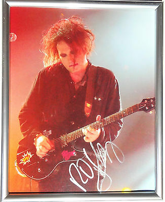 Signed The Cure Robert Smith Autographed 8X10 Photo Framed W/pic