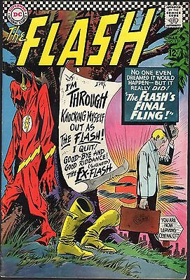 """The Flash # 159-1966-""""the Flash's Final Fling!""""-I Quit! Good-Bye-The Ex-Flash!"""