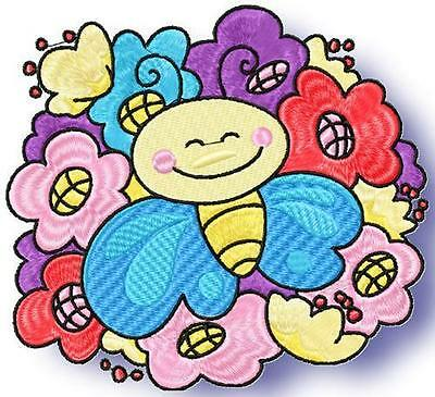 Happy Butterflies 10 Machine Embroidery Designs Cd 3 Sizes Included