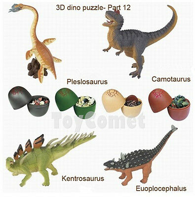 Set of 4 Dinosaur Dino Part XII 4D 3D Puzzle Egg Model Kit DIY Educational Toy