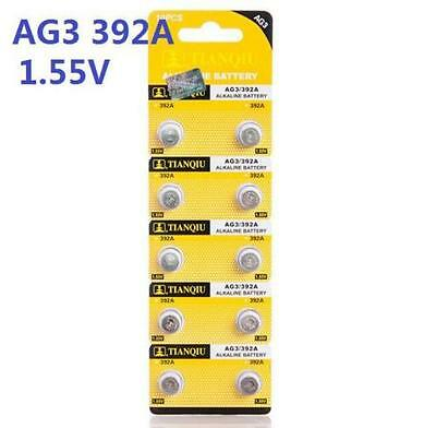 10X Batteries AG3 L736 LR41 392A SR41 Coin Button Cell Battery Watch camera ψ