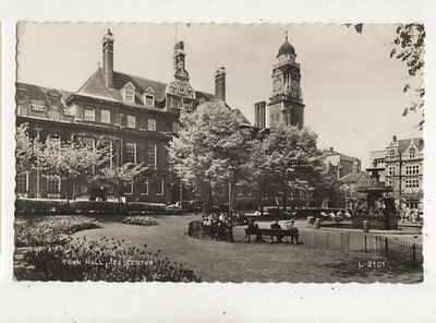 Town Hall Leicester 1960 RP Postcard 924a