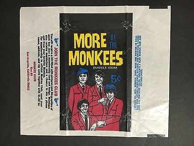"""monkeys More Of"" Trading Card Wrapper By Donruss"