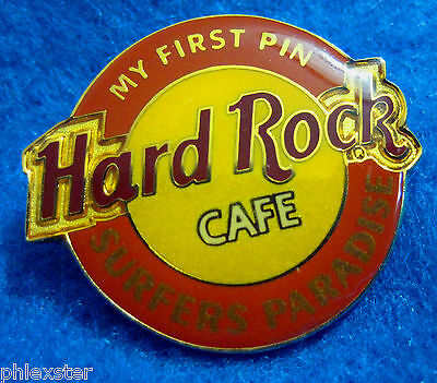 SURFERS PARADISE *MY FIRST PIN SERIES* ROUND LOGO Hard Rock Cafe PIN