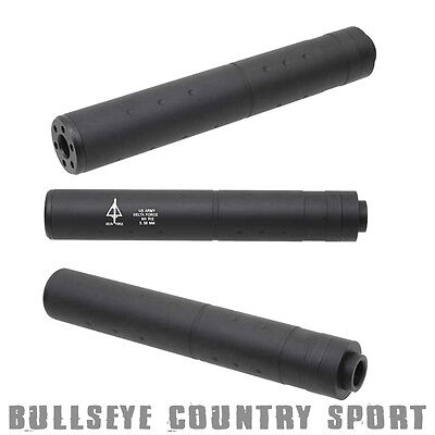 Cobra Airsoft Barrel Extension Black Delta Force Logo 14mm CCW 6mm bb's 0446I
