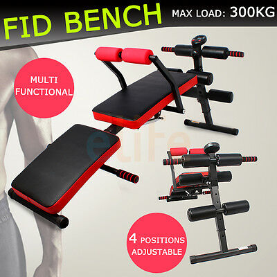 New Multi-Station Adjustable FID Benches Foldable Situp Board Home Gym Exercise