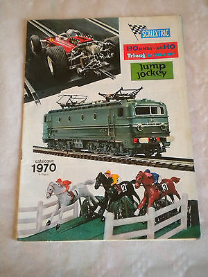 Vintage Catalogue 1970 French Scalextric Hornby ACHO Triang Hornby Jump Jockey