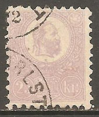 1871 Hungary 25k Mauve Lithographed SG 7 Used (Cat £475)