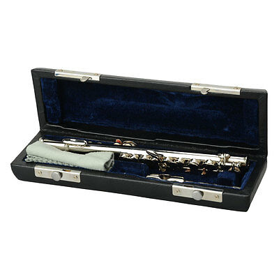 New Silver Color Beginner Silver Keys C Tone Piccolo with Case + Cloth