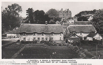 Postcard St Fagans Village and Castle Cardiganshire Wales RP by Matthews