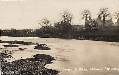 Postcard Milltown Rothiemay Moray Scotland river Deveron and Bridge nr Huntly RP