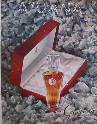 Vintage French Paper Ad 1952 Guerlain Atuana Perfume Lespubs