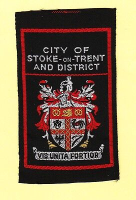 Boy Scout Badge ribbon +++Ext CITY of STOKE-on-TRENT and District