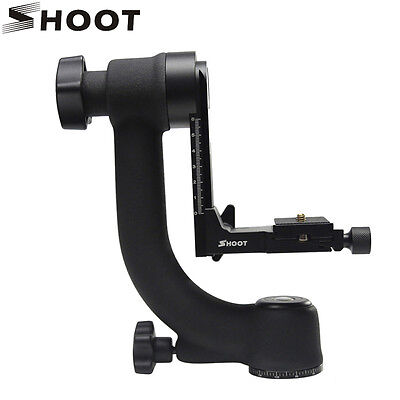 Pro 360° Panorama Bird-Swing Gimbal Ball Head 1/4'' Screws f Telephoto Lens DSLR