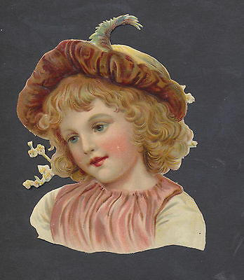 S10707 Victorian Die Cut Scraps: Large Girl's Portrait