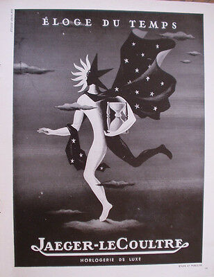 Vintage French Paper Ad From 1948 Jaeger-Lecoultre Watch Lespubs