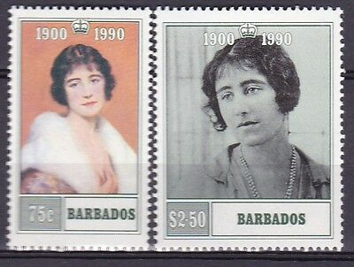 Barbados1980 Queen Mother Set (25B) Mint Never Hinged