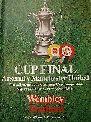 Manchester United V Arsenal  1979 Fa Cup Final