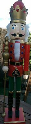 Christmas Nutcracker Wooden Soldier King Red Deluxe Extra Large 68 Cms Bnwt