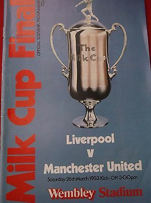 Liverpool V Manchester United League Cup Final 1983