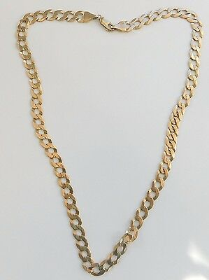 A SOLID 9ct GOLD 27.6g 20 inch  CURB CHAIN