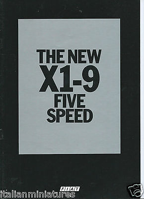 Fiat X1-9 X19 X1/9 Five Speed Brochure English Prospekt Catalog 1978 Excellent