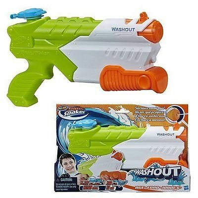 Brand New NERF Super Soaker WASHOUT Blaster ~ Mini Water Pistol WASH OUT