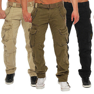 Geographical Norway Men's Pretoria Cargo Trousers Casual Military Army