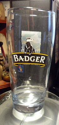 Badger Dorset Ales  Straight Pint Glass, Picture. 17Cmtall Very Good Condition.