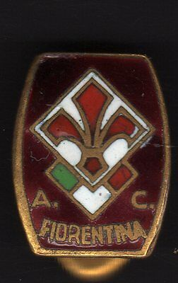 Italy Soccer. A. C. Fiorentina,  Old Pin Badge Enameled