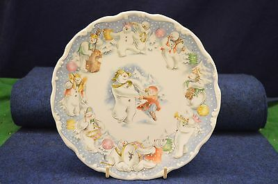 Lovely Royal Doulton The Snowman ''Dance Of The Snowman'' Plate 1985 USC RD6474
