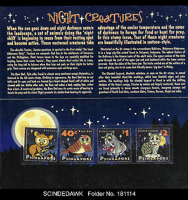 Singapore - 2003 Night Creatures - 4V Folder