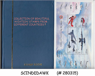 Collection Of Beautiful Aviation Stamp - Diff. Countires In Small Stock Book