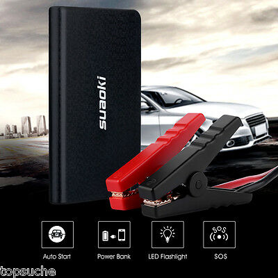 Mini Car Jump Starter 40A 8000mAh Voiture Démarrage Booster Chargeur LED Light